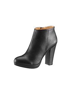 High Heel Stiefelette von Buffalo London aus weichem Leder