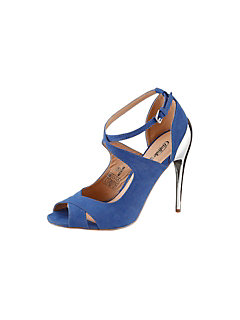 Buffalo girl High Heel Sandalette in Velorslederoptik