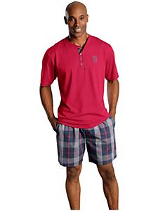 H.I.S - H.I.S Shorty Pyjama aus Baumwolle mit Rundhalsausschnitt