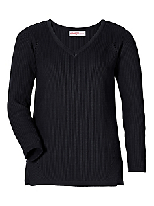 Sheego Casual - sheego Casual Pullover mit V-Ausschnitt