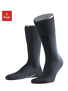 FALKE - Falke Socken »Airport« (2 Paar) außen mit wärmender Schurwolle