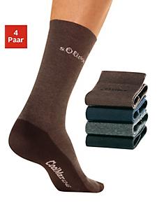 S.OLIVER RED LABEL - s.Oliver RED LABEL Bodywear Freizeitsocken (4 Paar) mit Coolmax Funktionsfaser