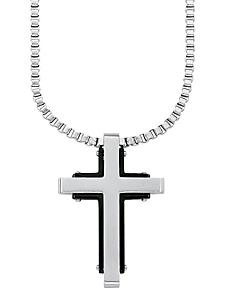 S.OLIVER RED LABEL - Kette mit Anhänger »Kreuz«, »9076956«, s.Oliver