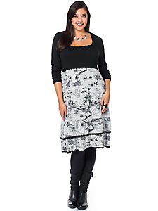 Sheego Style - sheego Style Jerseykleid mit floralem Print