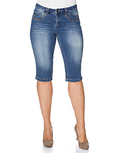 SHEEGO DENIM - sheego Denim Schmale Stretch-Jeans-Capri