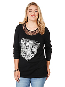 Sheego Casual - sheego Casual 2 in 1 Oberteil mit Frontprint