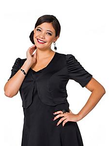Sheego Style - sheego Style Leicht glänzender Bolero mit gerafften Ärmeln