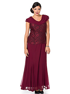 Sheego Style - sheego Style Abendkleid mit Spitze