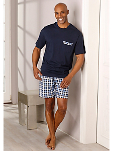 Schiesser - Schiesser Shorty Pyjama kurz