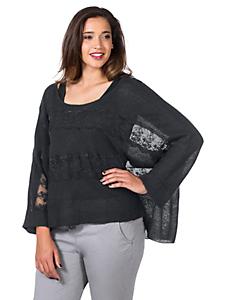 Sheego Style - sheego Style  Oversized-Pullover mit Spitzeneinsatz