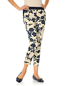 Ashley Brooke - Bodyform-Druckhose mit Bauch-weg-Funktion