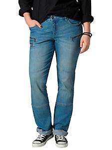 SHEEGO DENIM - sheego Denim Gerade Stretch-Jeans mit Knieabnäher und Zipper