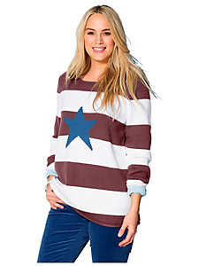 Sheego Casual - sheego Casual Pullover mit Stickerei