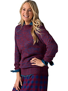 Sheego Casual - sheego Casual Pullover aus meliertem Strick