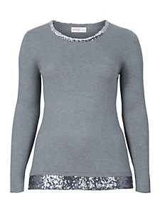 Sheego Style - sheego Style Pullover mit Pailletten