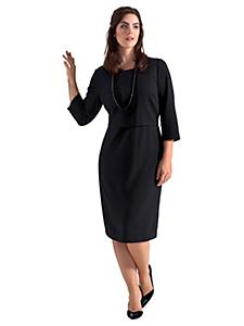 Sheego Class - sheego Class Kleid im eleganten Layer-Look