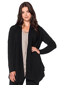 Sheego Style - sheego Style Jerseyjacke in Zipfelform