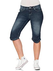 SHEEGO DENIM - sheego Denim Capri-Jeans mit Used-Effekten