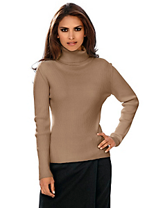 Ashley Brooke - Rollkragenpullover mit Seide