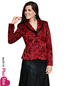 Ashley Brooke - Jacquard-Blazer Blütenmuster